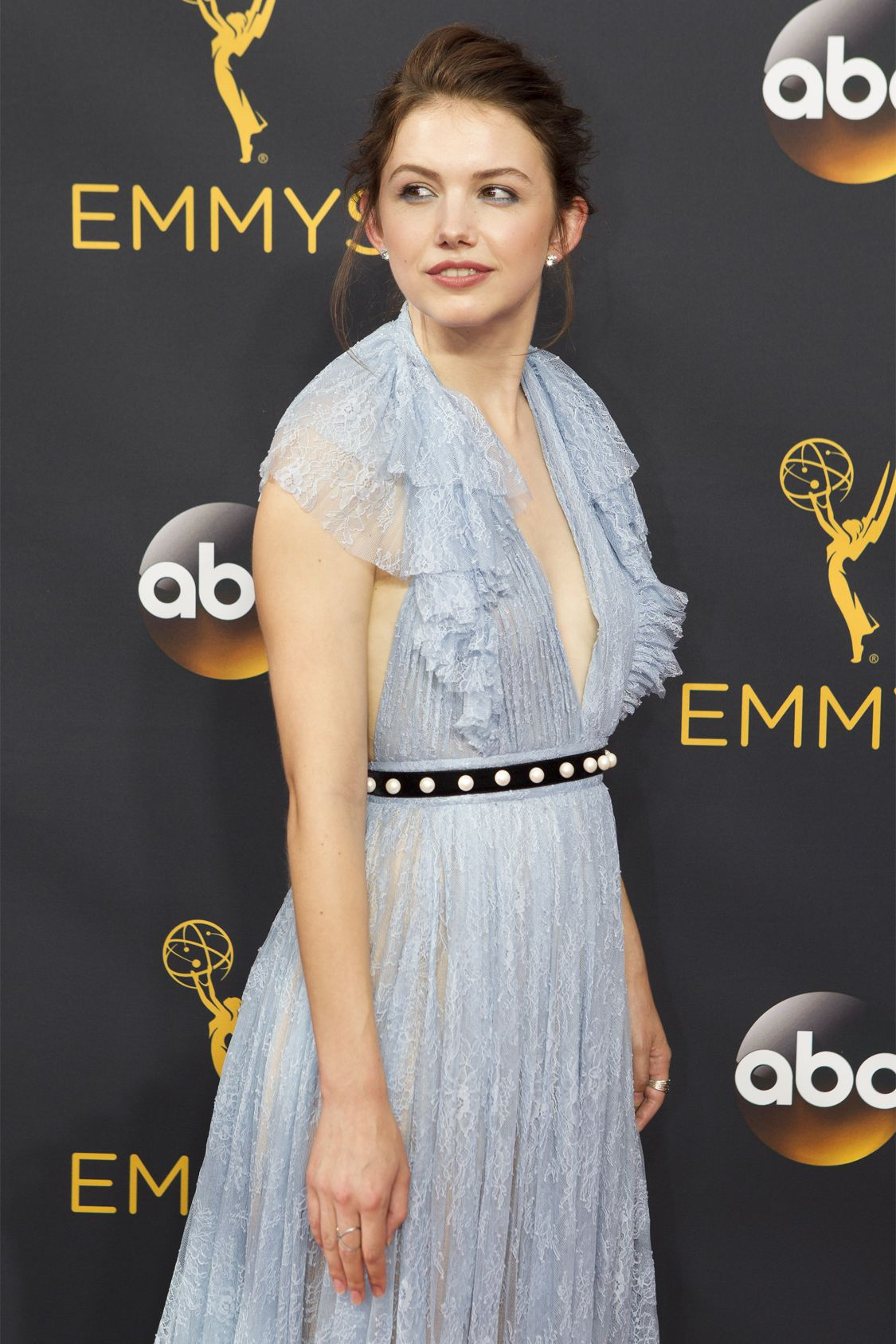 """THE 68TH EMMY(r) AWARDS - """"The 68th Emmy Awards"""" broadcasts live from The Microsoft Theater in Los Angeles, Sunday, September 18 (7:00-11:00 p.m. EDT/4:00-8:00 p.m. PDT), on ABC and is hosted by Jimmy Kimmel. (ABC/Rick Rowell) HANNAH MURRAY"""
