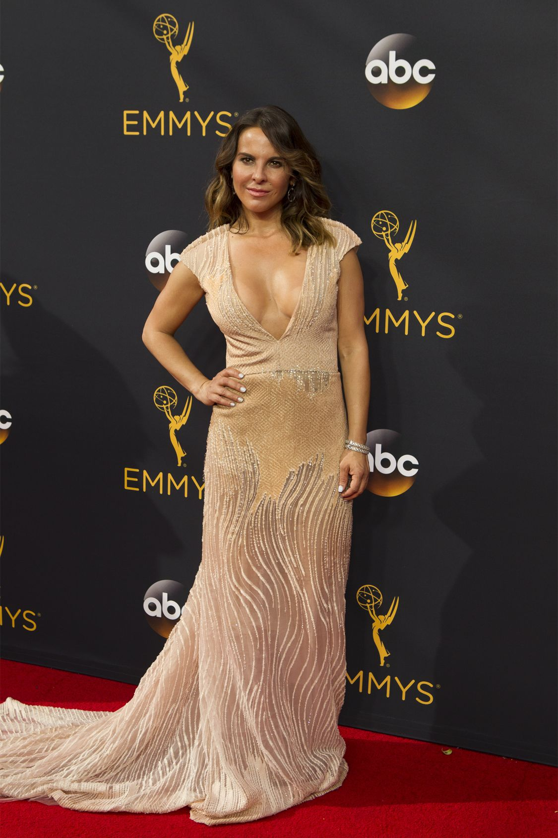"""THE 68TH EMMY(r) AWARDS - """"The 68th Emmy Awards"""" broadcasts live from The Microsoft Theater in Los Angeles, Sunday, September 18 (7:00-11:00 p.m. EDT/4:00-8:00 p.m. PDT), on ABC and is hosted by Jimmy Kimmel. (ABC/Rick Rowell) KATE DEL CASTILLO"""