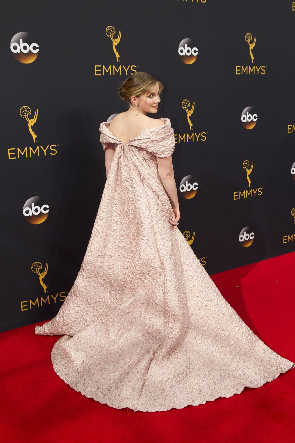 """THE 68TH EMMY(r) AWARDS - """"The 68th Emmy Awards"""" broadcasts live from The Microsoft Theater in Los Angeles, Sunday, September 18 (7:00-11:00 p.m. EDT/4:00-8:00 p.m. PDT), on ABC and is hosted by Jimmy Kimmel. (ABC/Rick Rowell) ANNA CHLUMSKY"""