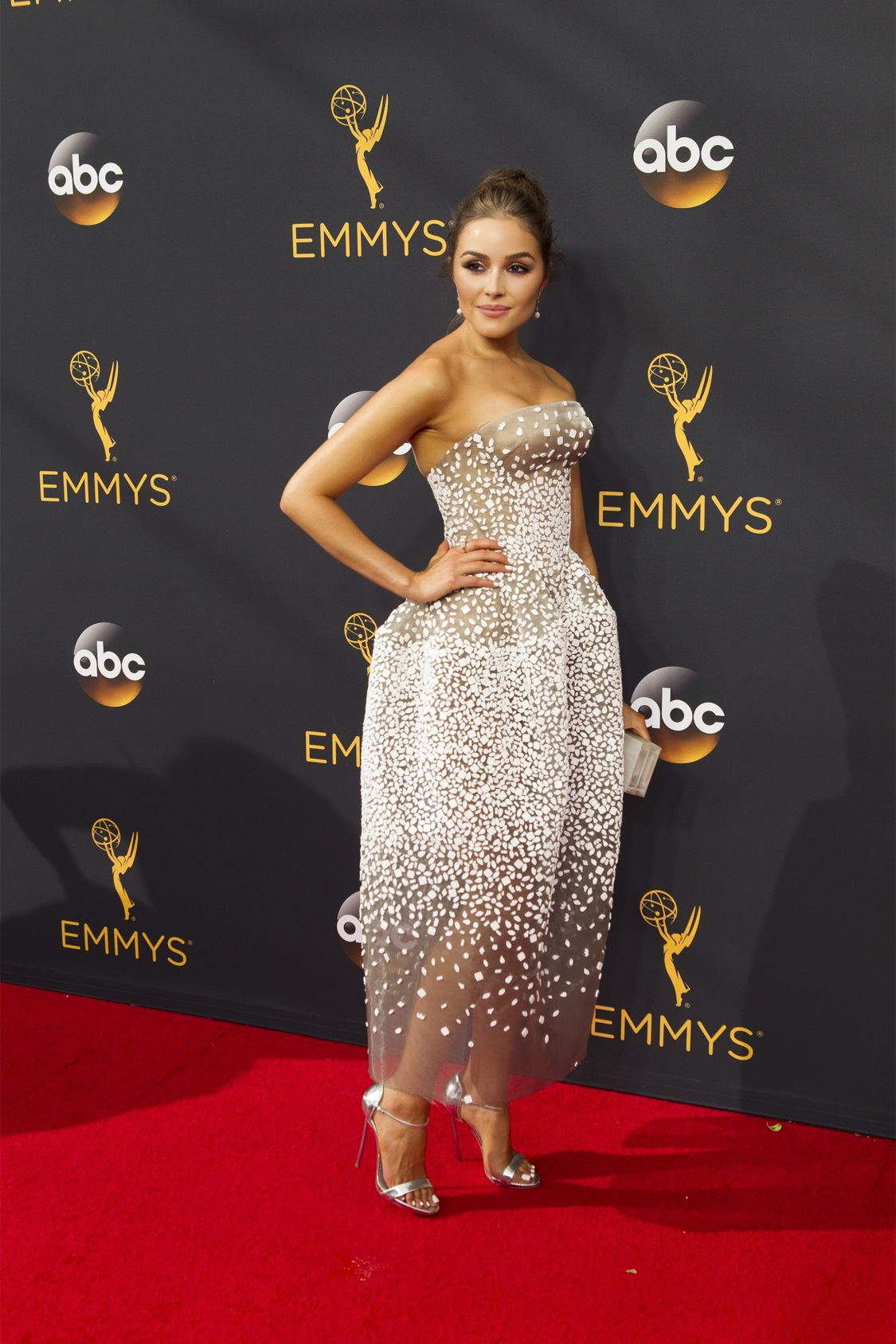 """THE 68TH EMMY(r) AWARDS - """"The 68th Emmy Awards"""" broadcasts live from The Microsoft Theater in Los Angeles, Sunday, September 18 (7:00-11:00 p.m. EDT/4:00-8:00 p.m. PDT), on ABC and is hosted by Jimmy Kimmel. (ABC/Rick Rowell) OLIVIA CULPO"""