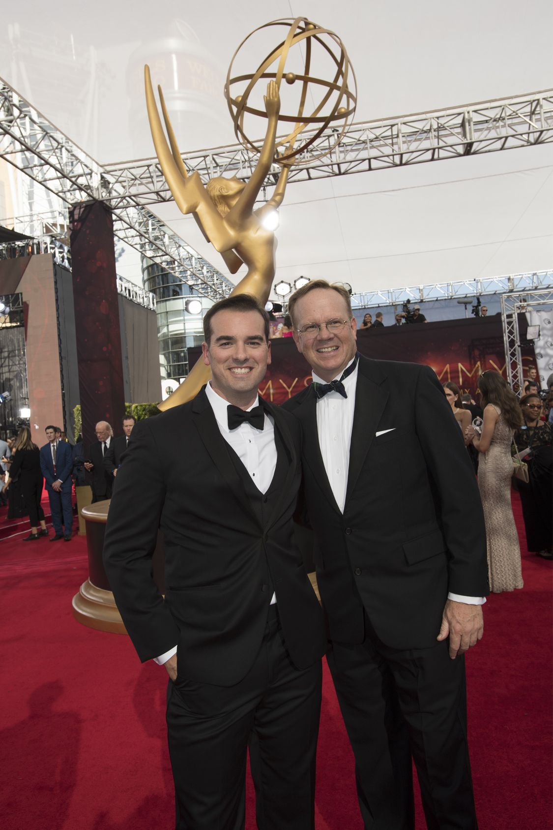 """THE 68TH EMMY(r) AWARDS - """"The 68th Emmy Awards"""" broadcasts live from The Microsoft Theater in Los Angeles, Sunday, September 18 (7:00-11:00 p.m. EDT/4:00-8:00 p.m. PDT), on ABC and is hosted by Jimmy Kimmel. (ABC/Image Group LA) JEFF MEACHAM, PETER MACKENZIE"""