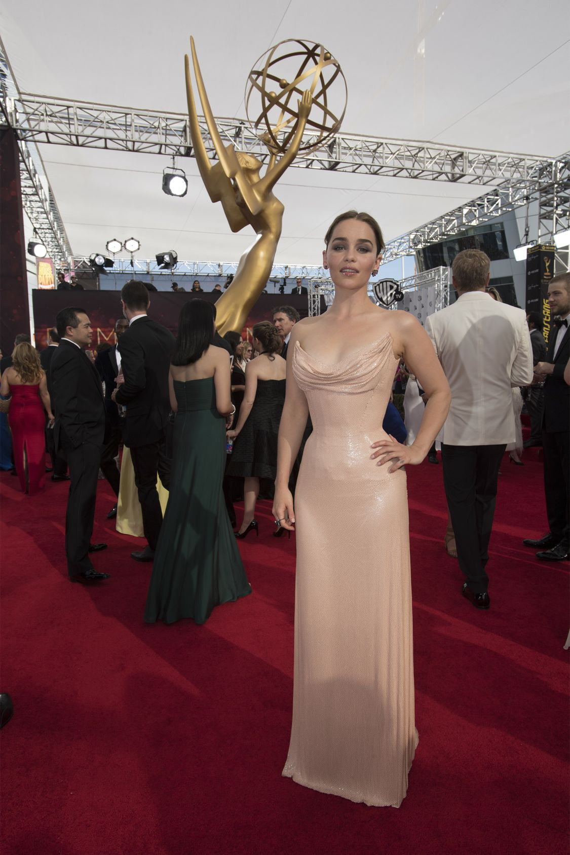 """THE 68TH EMMY(r) AWARDS - """"The 68th Emmy Awards"""" broadcasts live from The Microsoft Theater in Los Angeles, Sunday, September 18 (7:00-11:00 p.m. EDT/4:00-8:00 p.m. PDT), on ABC and is hosted by Jimmy Kimmel. (ABC/Image Group LA) EMILIA CLARKE"""