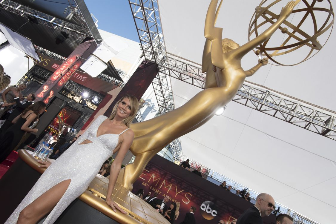 """THE 68TH EMMY(r) AWARDS - """"The 68th Emmy Awards"""" broadcasts live from The Microsoft Theater in Los Angeles, Sunday, September 18 (7:00-11:00 p.m. EDT/4:00-8:00 p.m. PDT), on ABC and is hosted by Jimmy Kimmel. (ABC/Image Group LA) HEIDI KLUM"""