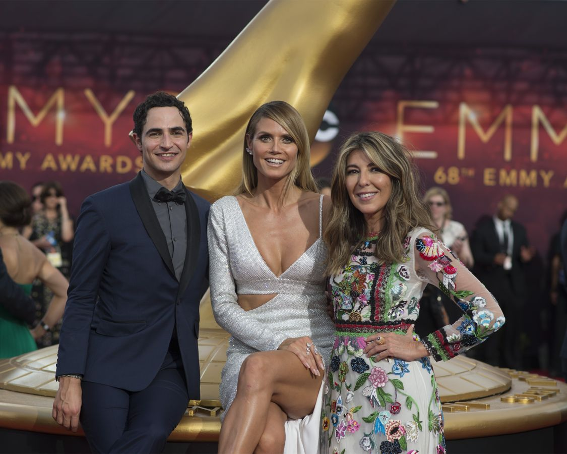 """THE 68TH EMMY(r) AWARDS - """"The 68th Emmy Awards"""" broadcasts live from The Microsoft Theater in Los Angeles, Sunday, September 18 (7:00-11:00 p.m. EDT/4:00-8:00 p.m. PDT), on ABC and is hosted by Jimmy Kimmel. (ABC/Image Group LA) ZAC POSEN, HEIDI KLUME, NINA GARCIA"""