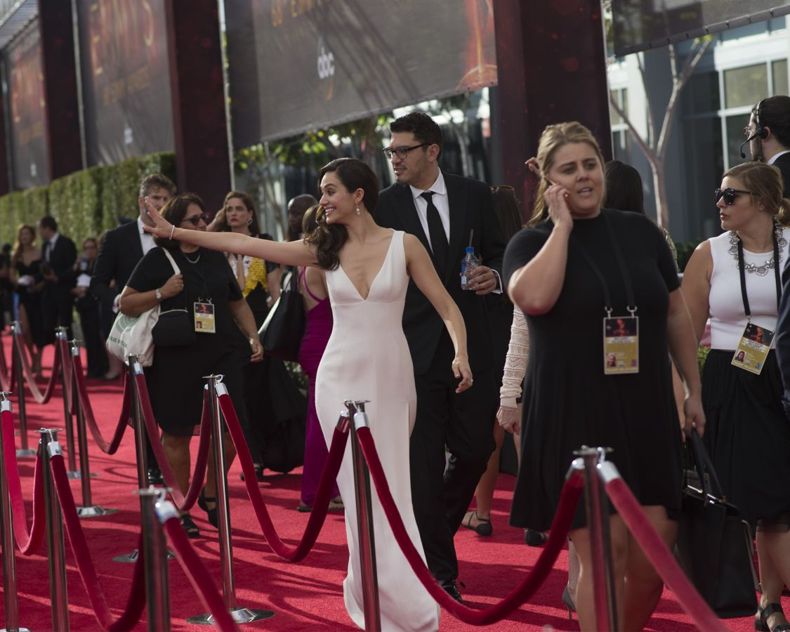 """THE 68TH EMMY(r) AWARDS - """"The 68th Emmy Awards"""" broadcasts live from The Microsoft Theater in Los Angeles, Sunday, September 18 (7:00-11:00 p.m. EDT/4:00-8:00 p.m. PDT), on ABC and is hosted by Jimmy Kimmel. (ABC/Image Group LA) EMMY ROSWUM"""