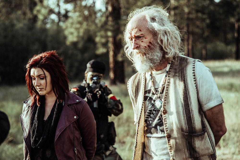 "Z NATION -- ""A New Mission"" Episode 303 -- Pictured: (l-r) Anastasia Baranova as Addy, Russell Hodgkinson as Doc -- (Photo by: Daniel Sawyer Schaefer/Go2 Z/Syfy)"