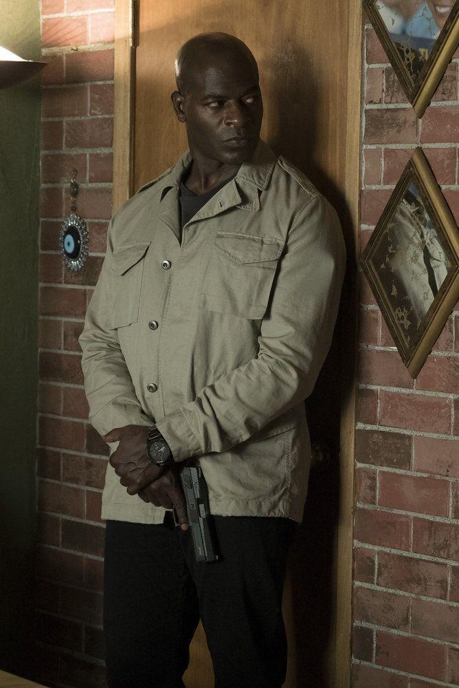 "THE BLACKLIST -- ""Mato #66"" Episode 402 -- Pictured: Hisham Tawfiq as Dembe Zuma -- (Photo by: Virginia Sherwood/NBC)"