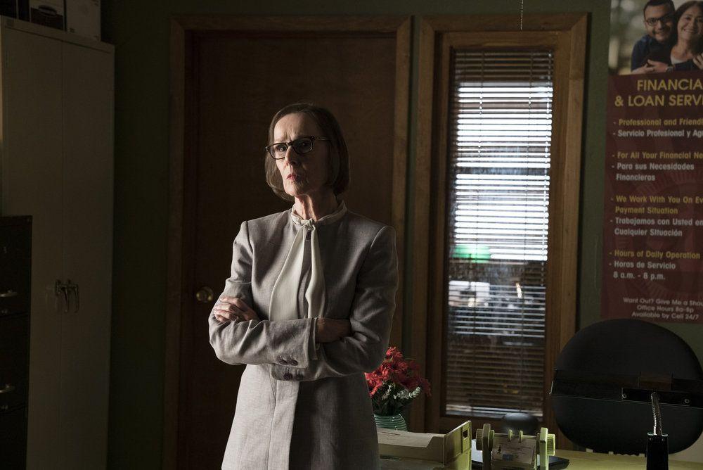 "THE BLACKLIST -- ""Mato #66"" Episode 402 -- Pictured: Susan Blommaert as Mr. Kaplan -- (Photo by: Virginia Sherwood/NBC)"