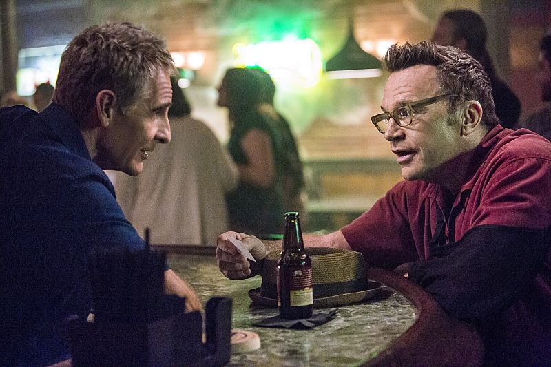 """""""Suspicious Minds"""" -- Pride faces further backlash from the FBI when he helps former Navy Intelligence Analyst Elvis Bertrand (Tom Arnold), who is the lead suspect in a multiple homicide case, on NCIS: NEW ORLEANS, Tuesday, Sept. 27 (10:00-11:00 PM, ET/PT), on the CBS Television Network. Pictured L-R: Scott Bakula as Special Agent Dwayne Pride and Tom Arnold as Elvis Bertrand Photo: Skip Bolen/CBS ©2016 CBS Broadcasting, Inc. All Rights Reserved"""