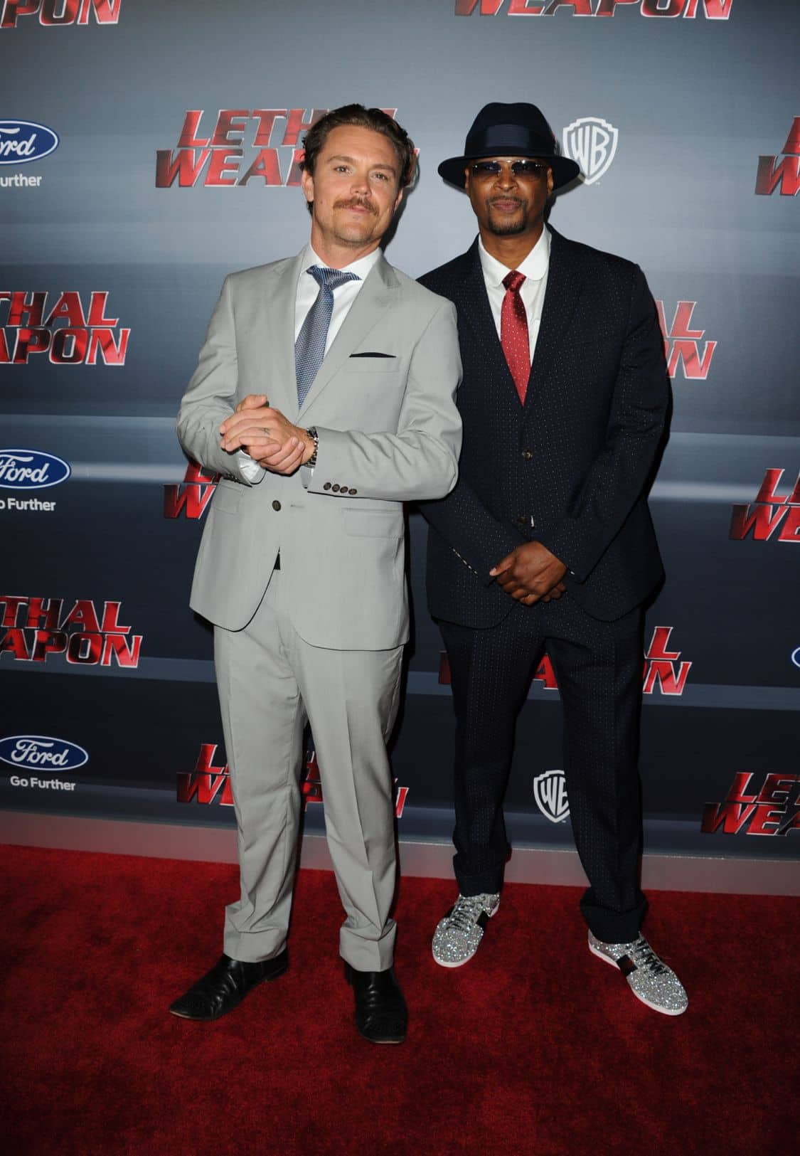 LETHAL WEAPON: Clayne Crawford and Damon Wayans celebrate the LETHAL WEAPON premiere party at NeueHouse Hollywood on Monday, Sept. 12, in Los Angeles, CA, sponsored by Ford. LETHAL WEAPON premieres Wednesday, Sept. 21 (8:00-9:00 PM ET/PT) on FOX. ©2016 Fox Broadcasting Co. CR: Frank Micelotta/FOX