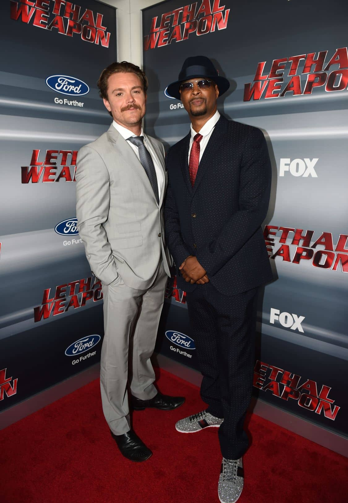 LETHAL WEAPON: Pictured L-R: Clayne Crawford and Damon Wayans celebrate the LETHAL WEAPON premiere party at NeueHouse Hollywood on Monday, Sept. 12, in Los Angeles, CA, sponsored by Ford. LETHAL WEAPON premieres Wednesday, Sept. 21 (8:00-9:00 PM ET/PT) on FOX. ©2016 Fox Broadcasting Co. CR: Frank Micelotta/FOX
