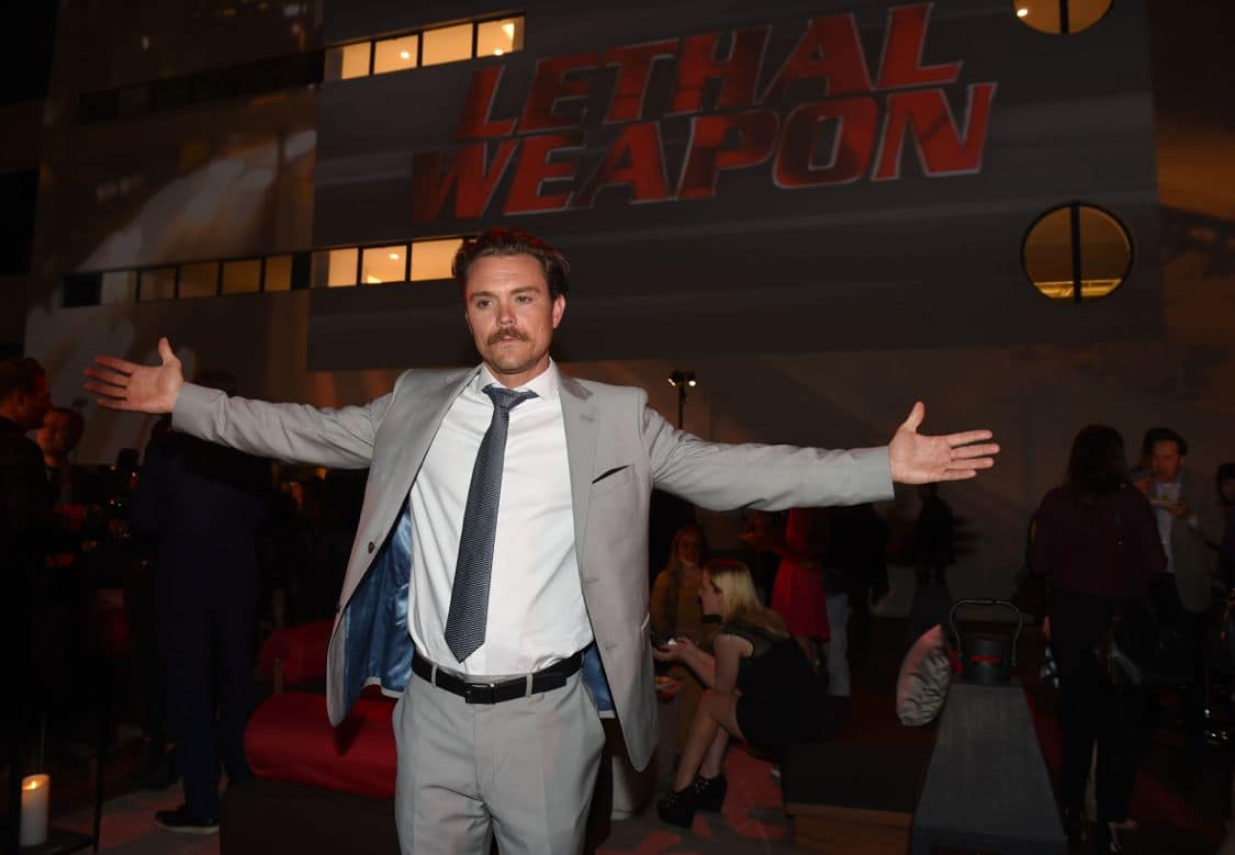 LETHAL WEAPON: Clayne Crawford celebrates at the LETHAL WEAPON premiere party at NeueHouse Hollywood on Monday, Sept. 12, in Los Angeles, CA, sponsored by Ford. LETHAL WEAPON premieres Wednesday, Sept. 21 (8:00-9:00 PM ET/PT) on FOX. ©2016 Fox Broadcasting Co. CR: Frank Micelotta/FOX