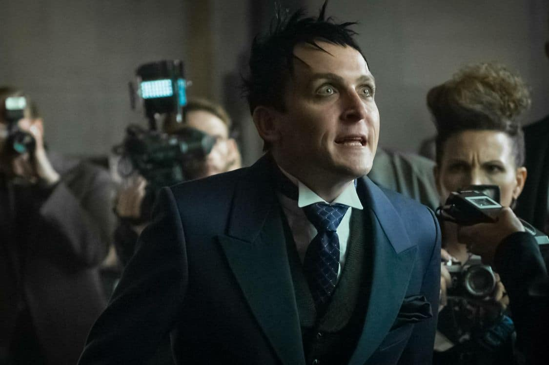 """GOTHAM: Robin Lord Taylor in the """"Mad City: Better to Reign in Hell…"""" season premiere episode of GOTHAM airing airing Monday, Sept. 19 (8:00-9:01 PM ET/PT) on FOX. ©2015 Fox Broadcasting Co. Cr: Jeff Neumann/FOX."""