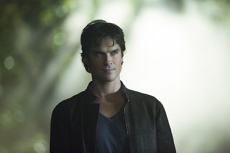 """The Vampire Diaries -- """"Hello Brother"""" --Image Number: VD801b_0380.jpg -- Pictured: Ian Somerhalder as Damon -- Photo: Bob Mahoney/The CW -- © 2016 The CW Network, LLC. All rights reserved."""
