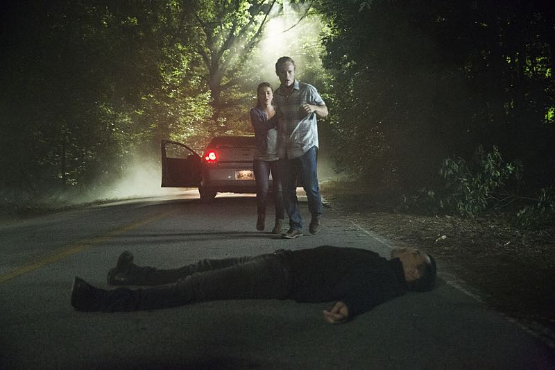 "The Vampire Diaries -- ""Hello Brother"" --Image Number: VD801b_0330.jpg -- Pictured (center front): Michael Malarkey as Enzo -- Photo: Bob Mahoney/The CW -- © 2016 The CW Network, LLC. All rights reserved."