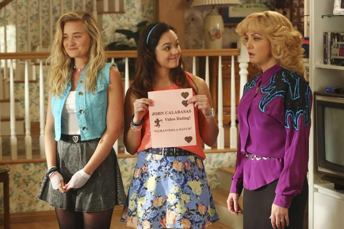 """THE GOLDBERGS -""""Physical Education Education"""" - Erica and Lainey try to find Bill a woman of interest by using new technology for dating. They recruit Adam to create a demo reel, but Beverly insists she will find someone the old fashioned way. Meanwhile, after a """"failed"""" aptitude test, Barry decides he wants to be a gym teacher and becomes Coach Mellor's apprentice, on """"The Goldbergs,"""" WEDNESDAY, SEPTEMBER 28 (8:00-8:30 p.m. EDT), on the ABC Television Network. (ABC/Michael Ansell) AJ MICHALKA, HAYLEY ORRANTIA, WENDI MCLENDON-COVEY"""