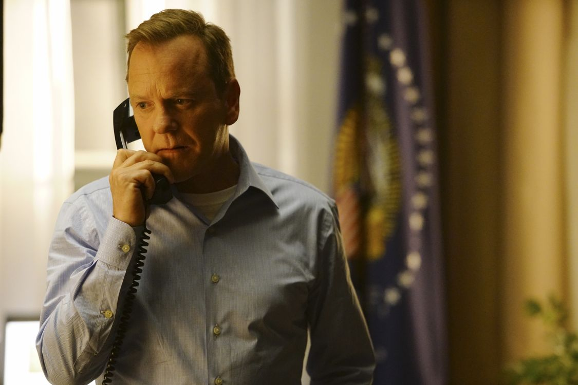 "DESIGNATED SURVIVOR - ""Pilot"" - Kiefer Sutherland stars as Tom Kirkman, a lower-level cabinet member who is suddenly appointed President of the United States after a catastrophic attack on the U.S. Capitol during the State of the Union, on the highly anticipated ABC series ""Designated Survivor,"" airing WEDNESDAY, SEPTEMBER 21 (10:00-11:00 p.m. EDT). (ABC/Ian Watson) KIEFER SUTHERLAND"