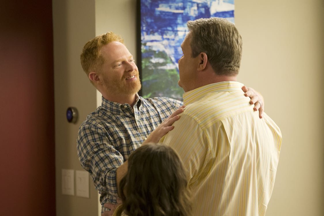 """MODERN FAMILY - """"A Tale of Three Cities"""" - After recent trips take the Dunphys to New York; Mitch, Cam and Lily to the Midwest; and Jay, Gloria, Manny and Joe to Juarez, Mexico; the Pritchett-Dunphy-Tucker clan reunites in its eighth season premiere with all of the families converging at home for Father's Day, on """"Modern Family,"""" TUESDAY, SEPTEMBER 21 (9:00-9:31 p.m. EDT), on the ABC Television Network. (ABC/Peter """"Hopper"""" Stone) JESSE TYLER FERGUSON, ERIC STONESTREET"""