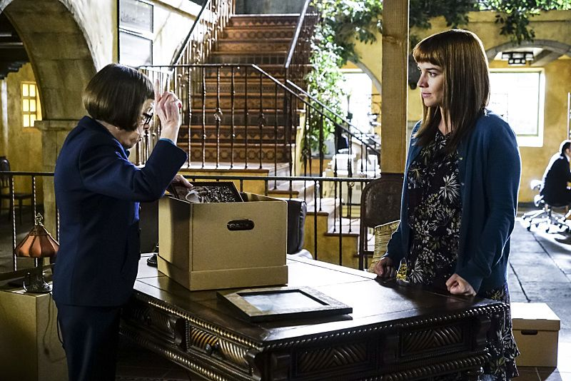 """High-Value Target"" and ""Belly of the Beast"" -- Pictured: Linda Hunt (Henrietta ""Hetty"" Lange) and (Renée Felice Smith (Intelligence Analyst Nell Jones). After NCIS fails to locate a mole in the department, Under Secretary of Defense Corbin Duggan (Jackson Hurst) insists on new leadership and takes over the Los Angeles unit from Hetty and Granger. Also, the team travels to Syria to apprehend a High Value Target where one team member is severely injured when the mission goes awry, on the special two hour eighth season premiere of NCIS: LOS ANGELES, Sunday, Sept. 25 (8:30-10:30 PM, ET/8:00-10:00 PM, PT), on the CBS Television Network. Photo: Richard Cartwright/CBS ©2016 CBS Broadcasting, Inc. All Rights Reserved."