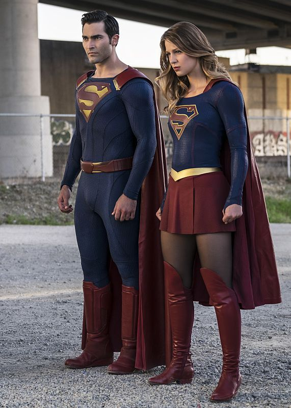 """Supergirl -- """"The Last Children of Krypton"""" -- Image SPG202a_0171-- Pictured (L-R): Tyler Hoechlin as Clark/Superman and Melissa Benoist Kara/Supergirl -- Photo: Robert Falconer/The CW -- © 2016 The CW Network, LLC. All Rights Reserved"""