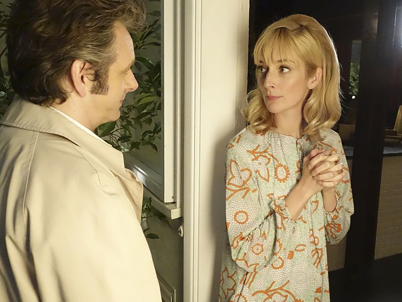 Michael Sheen as Dr. William Masters and Caitlin Fitzgerald as Libby Masters in Masters of Sex (season 4, episode 2) - Photo: Warren Feldman/SHOWTIME - Photo ID: MastersofSex_402_0721