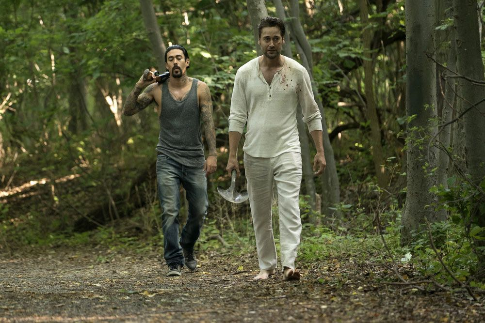 """THE BLACKLIST -- """"Esteban #79"""" Episode 401 -- Pictured: (l-r) Gino Vento as Angel, Ryan Eggold as Tom Keen -- (Photo by: Peter Kramer/NBC)"""