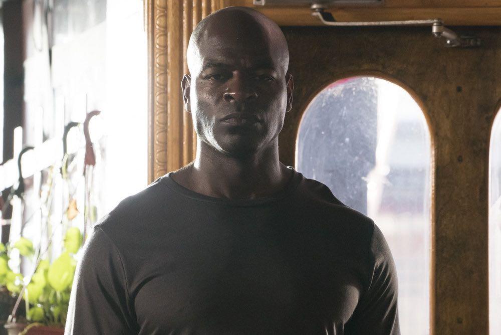 "THE BLACKLIST -- ""Esteban #79"" Episode 401 -- Pictured: Hisham Tawfiq as Dembe Zuma -- (Photo by: Virginia Sherwood/NBC)"