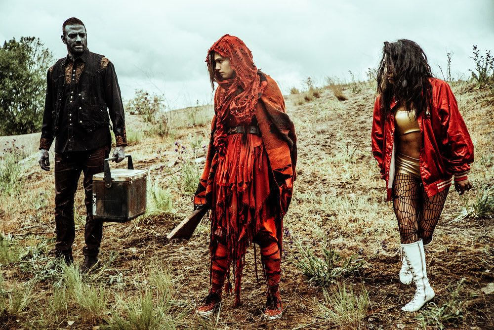 """Z NATION -- """"No Mercy"""" Episode 301-302 -- Pictured: (l-r) Keith Allen as Murphy, Natalie Taye as Red, Pisay Pao as Cassandra -- (Photo by: Daniel Sawyer Schaefer/Go2 Z/Syfy)"""