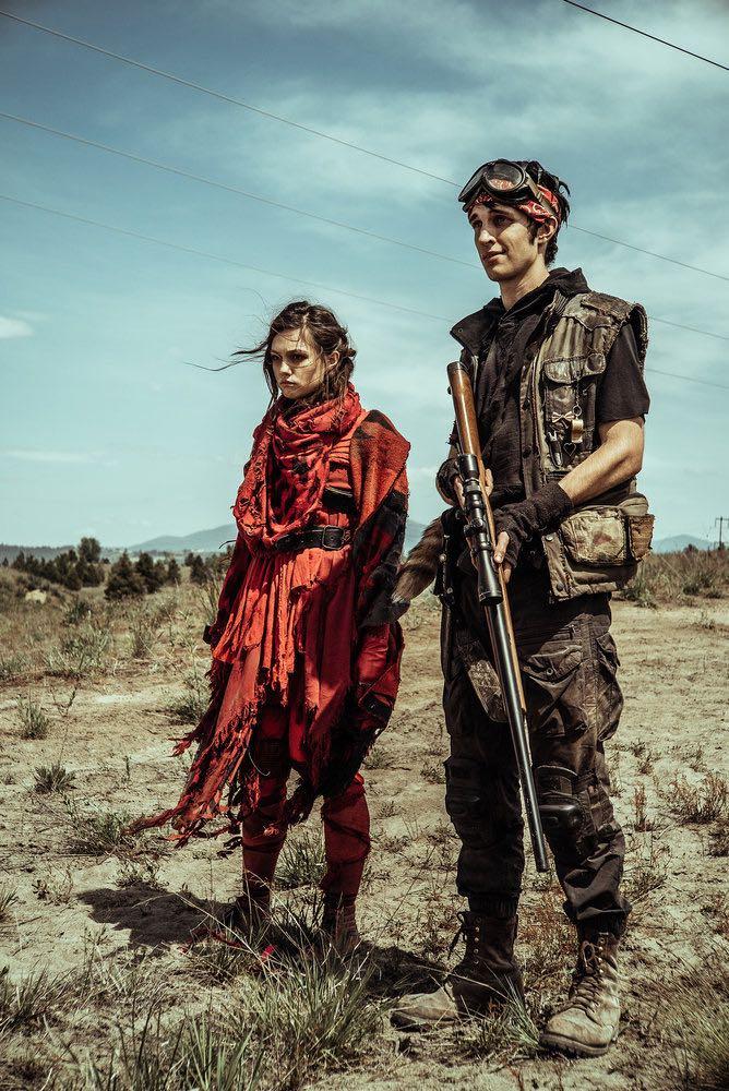 "Z NATION -- ""No Mercy"" Episode 301-302 -- Pictured: (l-r) Natalie Taye as Red, Nat Zang as 10K -- (Photo by: Daniel Sawyer Schaefer/Go2 Z/Syfy)"