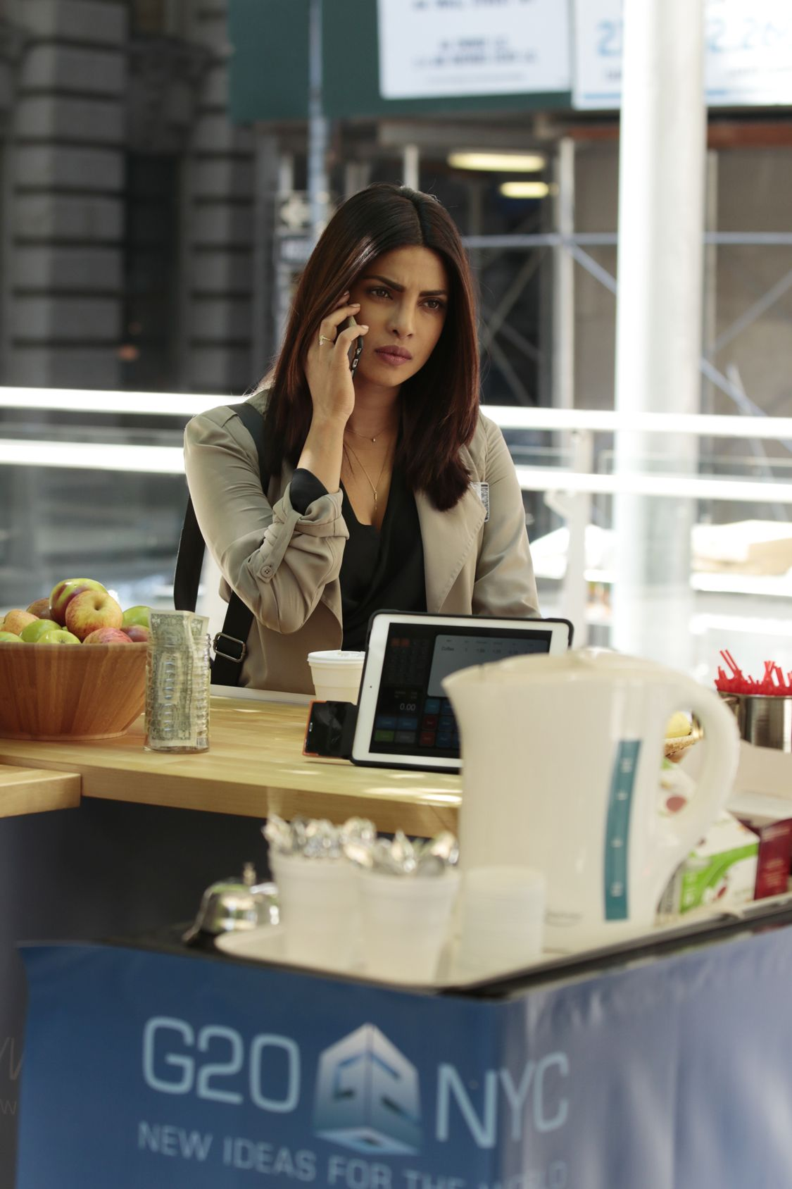 "QUANTICO - ""Kudove"" - When season two begins, Alex finds herself at ""The Farm,"" the CIA's mysterious training facility. As Alex navigates the dark world of espionage, far different and more dangerous than what she's learned before, she's pulled into the center of a deadly conspiracy that not only threatens the lives of this country's citizens, but the lives of countless others across the globe. This conspiracy calls everyone around her into question, be it new faces from the CIA or old ones from the Bureau. Prepare yourselves for another thrilling and heart-stopping adventure loaded with surprises you won't see coming, on ""Quantico,"" airing SUNDAY, SEPTEMBER 25 (10:00-11:00 p.m. EDT), on the ABC Television Network. (ABC/Giovanni Rufino) PRIYANKA CHOPRA"