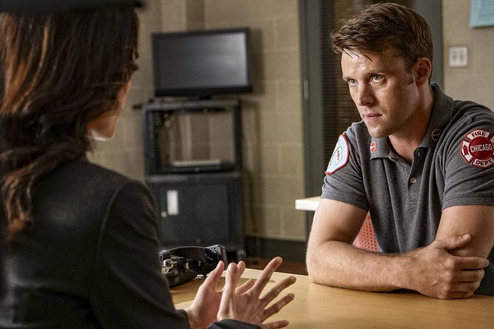 """CHICAGO FIRE -- """"The Hose or The Animal"""" Episode 501 -- Pictured: Jesse Spencer as Matthew Casey -- (Photo by: Matt Dinerstein/NBC)"""