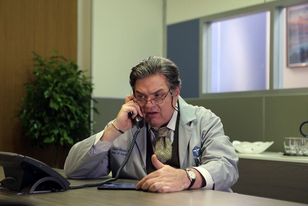 """CHICAGO FIRE -- """"The Hose or The Animal"""" Episode 501 -- Pictured: Oliver Platt as Dr. Daniel Charles -- (Photo by: Parrish Lewis/NBC)"""