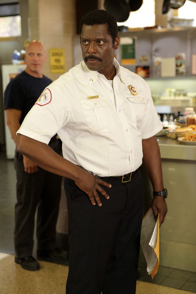 """CHICAGO FIRE -- """"The Hose or The Animal"""" Episode 501 -- Pictured: Eamon Walker as Chief Wallace Boden -- (Photo by: Parrish Lewis/NBC)"""
