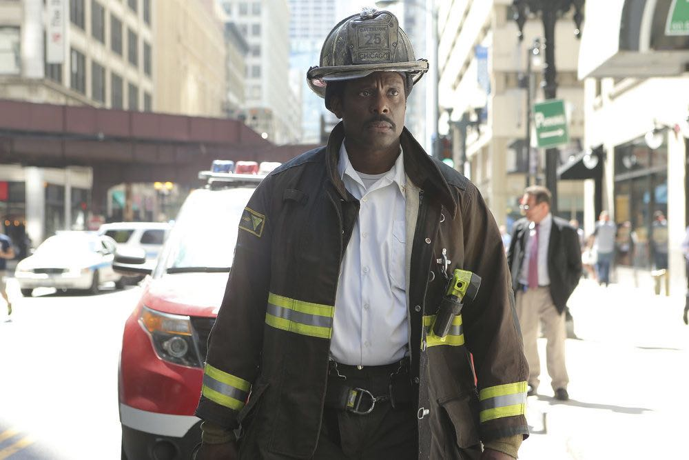 """CHICAGO FIRE -- """"The Hose or The Animal"""" Episode 501 -- Pictured: Eamonn Walker as Chief Wallace Boden -- (Photo by: Parrish Lewis/NBC)"""