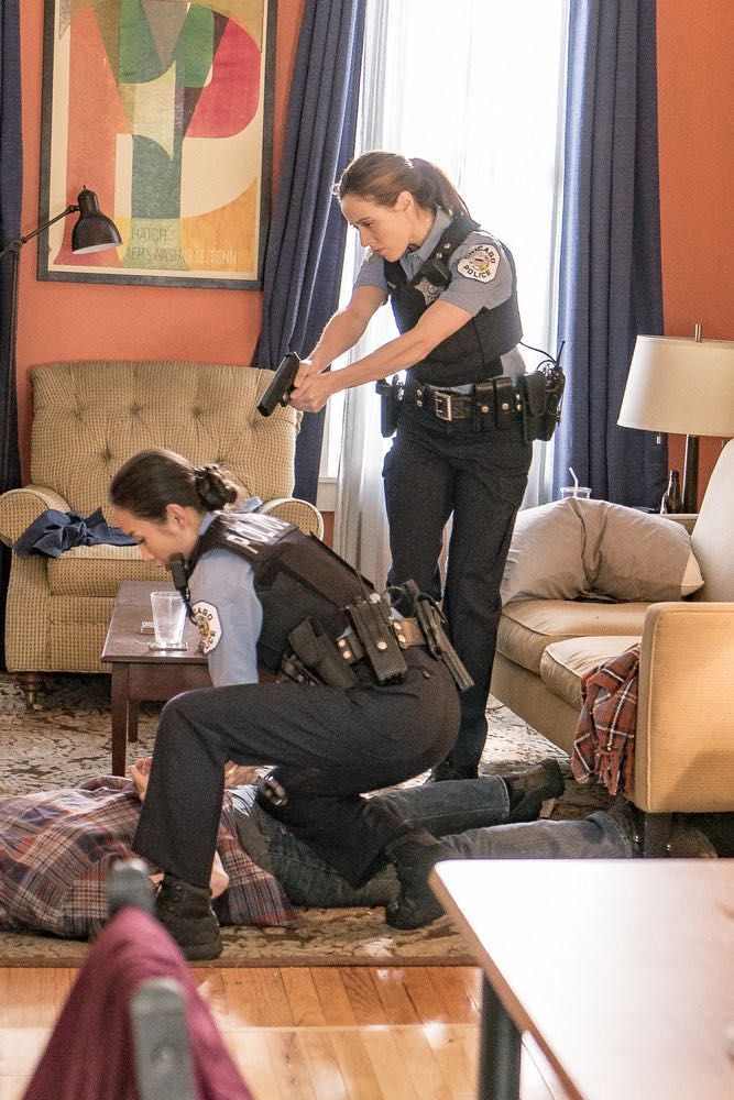 "CHICAGO P.D. -- ""The Silos"" Episode 401 -- Pictured: (l-r) Li Jun Li as Julie Tay, Marina Squerciati as Kim Burgess -- (Photo by: Matt Dinerstein/NBC)"