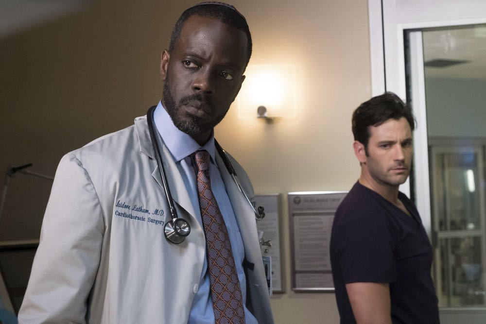 """CHICAGO MED -- """"Soul Care"""" Episode 201 -- Pictured: (l-r) Ato Essandoh as Isidore Latham, Colin Donnell as Connor Rhodes -- (Photo by: Elizabeth Sisson/NBC)"""