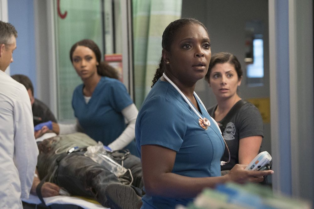 """CHICAGO MED -- """"Soul Care"""" Episode 201 -- Pictured: Marlyne Barrett as Maggie Lockwood -- (Photo by: Elizabeth Sisson/NBC)"""