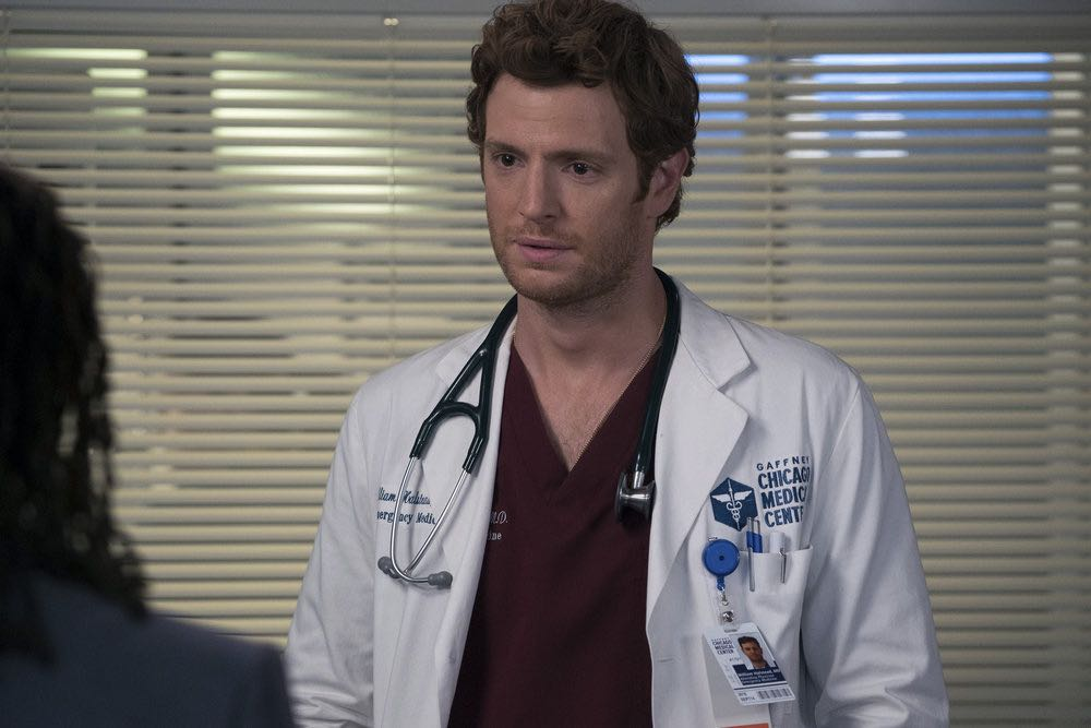 """CHICAGO MED -- """"Soul Care"""" Episode 201 -- Pictured: Nick Gehlfuss as Dr. Will Halstead -- (Photo by: Elizabeth Sisson/NBC)"""