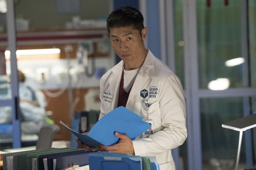 """CHICAGO MED -- """"Soul Care"""" Episode 201 -- Pictured: Brian Tee as Dr. Ethan Choi -- (Photo by: Elizabeth Sisson/NBC)"""
