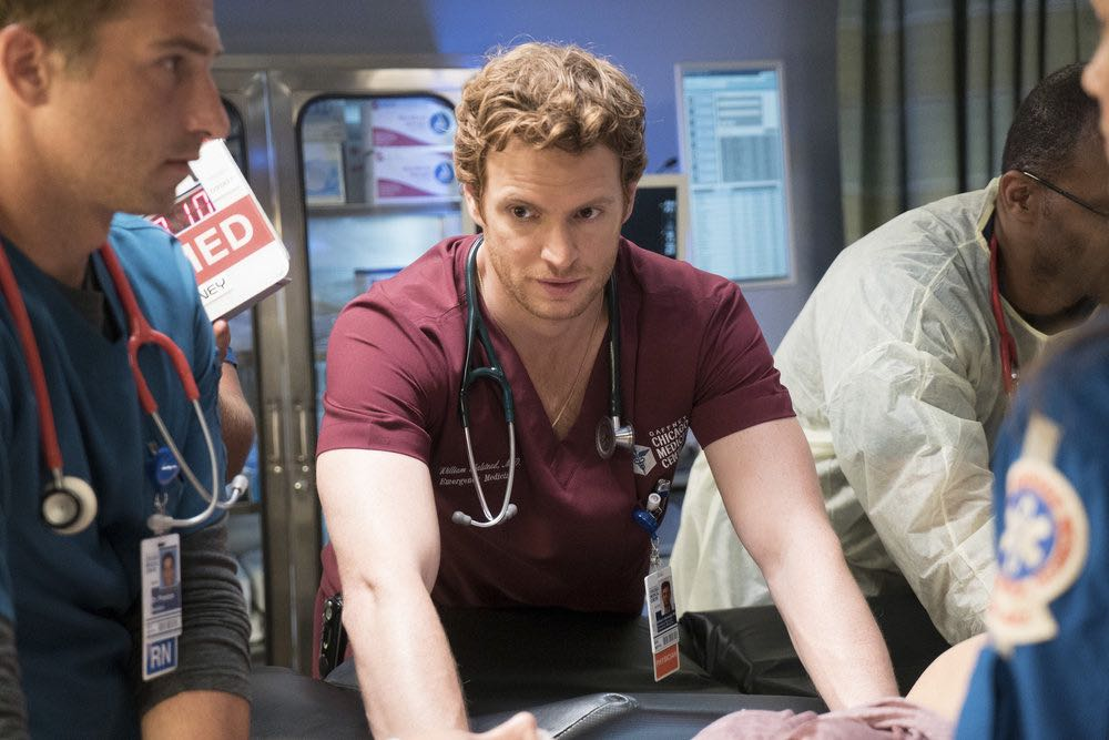 """CHICAGO MED -- """"Soul Care"""" Episode 201 -- Pictured: Nick Gehlfuss as Will Halstead -- (Photo by: Elizabeth Sisson/NBC)"""