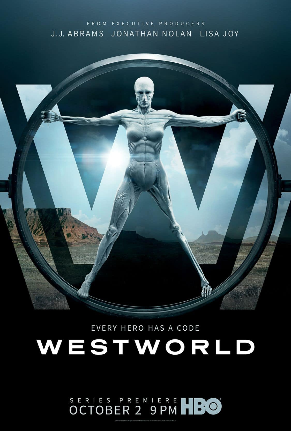 WESTWORLD Season 1 Poster Key Art HBO