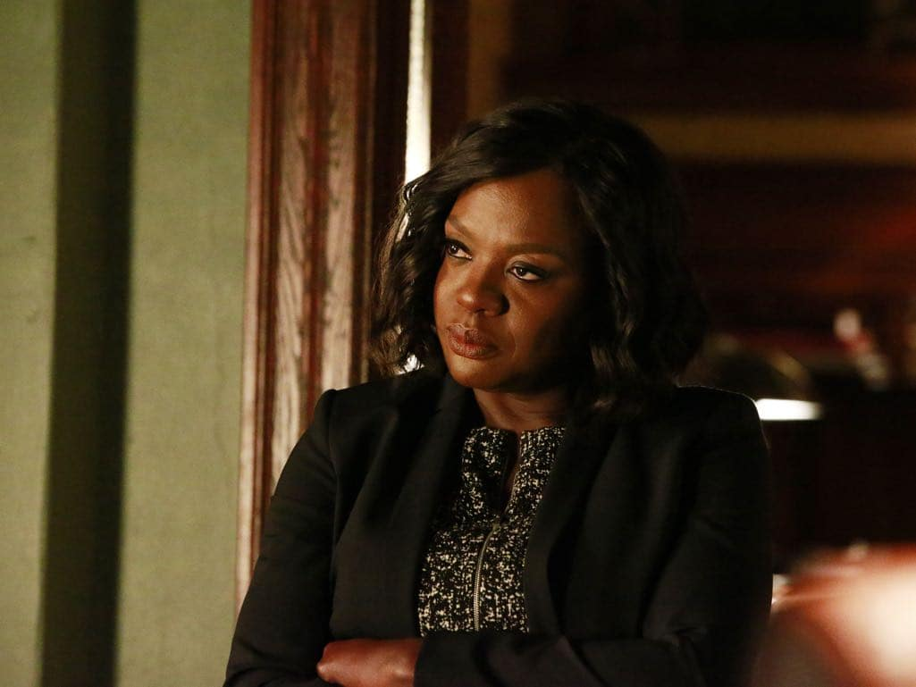 "HOW TO GET AWAY WITH MURDER - ""Call It Mother's Intuition"" - Annalise and her students take on a case defending siblings who have been charged with conspiracy to commit murder against their mother. Meanwhile, Frank's actions lead to a painful consequence, on ""How to Get Away with Murder,"" THURSDAY, NOVEMBER 3 (10:00-11:00 p.m. EDT), on the ABC Television Network. (ABC/Mitch Haaseth) VIOLA DAVIS"