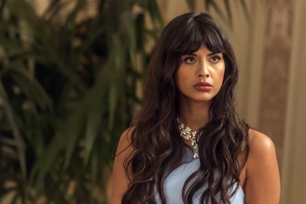 "THE GOOD PLACE -- ""...Someone Like Me as a Member"" -- Pictured: Jameela Jamil as Tehani -- (Photo by: Ron Batzdorff/NBC)"
