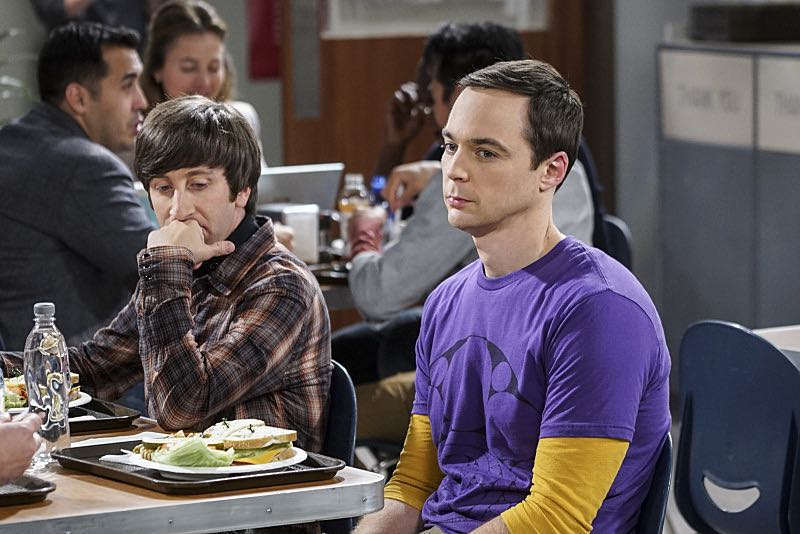 """The Veracity Elasticity"""" -- Pictured: Howard Wolowitz (Simon Helberg) and Sheldon Cooper (Jim Parsons). In order to continue living with Sheldon, Amy lies to him about repairs being made to her apartment and they host an """"on location"""" episode of """"Fun With Flags"""" in Penny's apartment. Also, Leonard lets Penny decorate Sheldon's old room after he learns that she has been secretly moving Leonard's collectibles into storage, on THE BIG BANG THEORY, Thursday, Nov. 3 (8:00-8:31 PM, ET/PT), on the CBS Television Network. Photo: Monty Brinton/CBS ©2016 CBS Broadcasting, Inc. All Rights Reserved."""