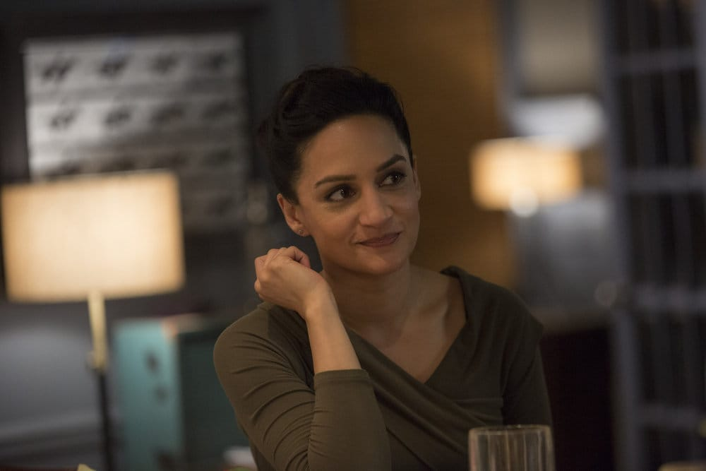 """BLINDSPOT -- """"Do Not Slack, the Featherweight Wins"""" Episode 208 -- Pictured: Archie Panjabi as Nas Kamal -- (Photo by: Eric Liebowitz/Warner Bros/NBC)"""