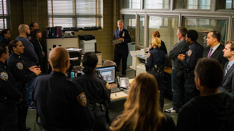 """Henny Penny the Sky is Falling"" -- Captain Gregson lobbies to include Holmes and Watson when his unit is selected to receive a city commendation for its exemplary work. Also, as Holmes and Watson consult on the investigation into a financial analyst's murder, they are drawn into the world of asteroid research, on the 100th episode of ELEMENTARY, Sunday, Oct. 30 (10:00-11:00 PM, ET/PT) on the CBS Television Network. Pictured Aidan Quinn as Captain Tommy Gregson Photo: Michael Parmelee/CBS ©2016 CBS Broadcasting, Inc. All Rights Reserved"