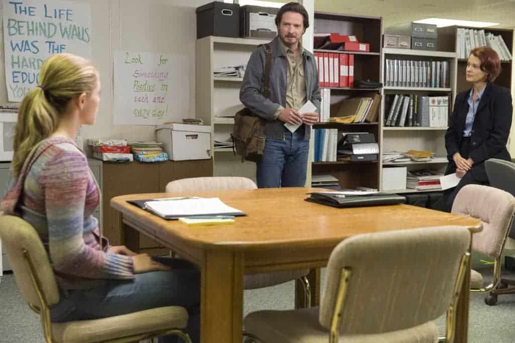 Aden Young as Daniel, Rebecca Tilney as Maggie Hines, Anja Akstin as Brittany - Rectify _ Season 4, Episode 1 - Photo Credit: Jackson Lee Davis/Sundance