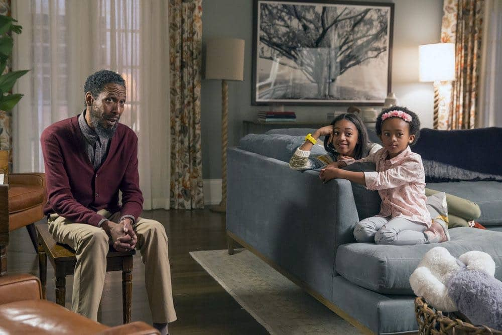 "THIS IS US -- ""Career Days"" Episode 106 -- Pictured: (l-r) Ron Cephas Jones as William, Eris Baker as Tess, Faithe Herman as Annie -- (Photo by: Ron Batzdorff/NBC)"