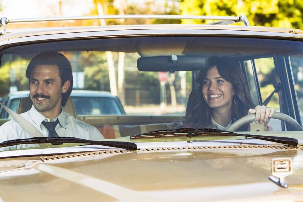 "THIS IS US -- ""Career Days"" Episode 106 -- Pictured: (l-r) Milo Ventimiglia as Jack, Mandy Moore as Rebecca -- (Photo by: Ron Batzdorff/NBC)"