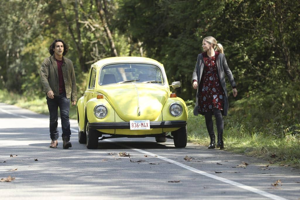 """ONCE UPON A TIME - """"Dark Waters"""" - Emma tries to convince Aladdin to work with Jasmine to help Agrabah, while Regina teams up with Snow and David to free Archie from Zelena. The Evil Queen sows suspicion between Henry and Hook, even as Mr. Gold reminds her of his most important lesson. Meanwhile, in the past, Hook finds himself kidnapped by the mysterious Captain Nemo and held captive inside his legendary submarine, the Nautilus, on """"Once Upon a Time,"""" SUNDAY, OCTOBER 30 (8:00-9:00 p.m. EDT), on the ABC Television Network. (ABC/Jack Rowand) DENIZ AKDENIZ, JENNIFER MORRISON"""